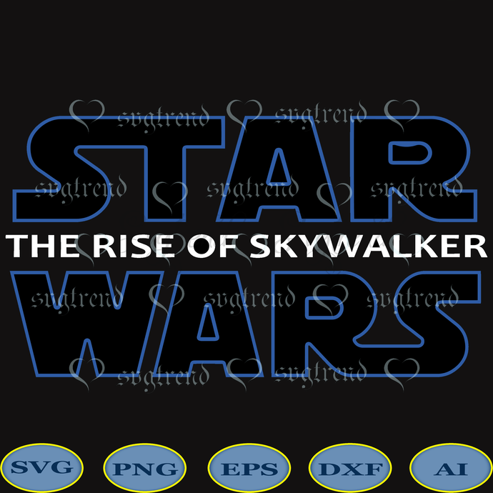 Starwars The Rise Of The Skywalker Logo Svg By Svgtrend On Zibbet