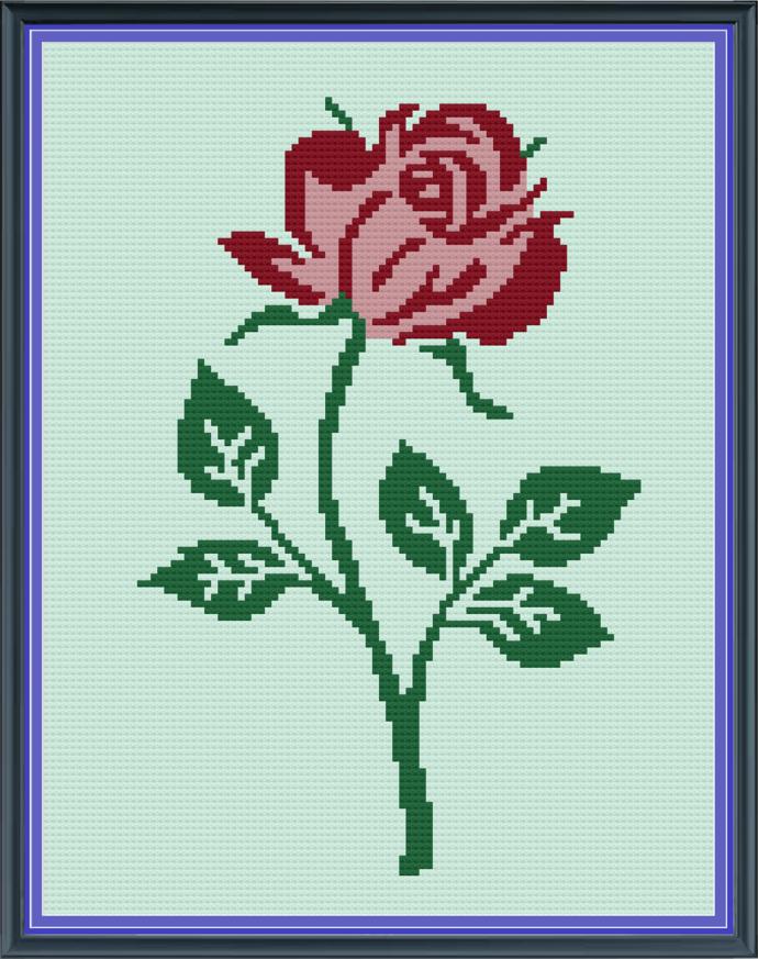 Blooming Rose-Mini C2C-100x130
