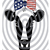 Fourth of July, handmade Fourth of July cow png