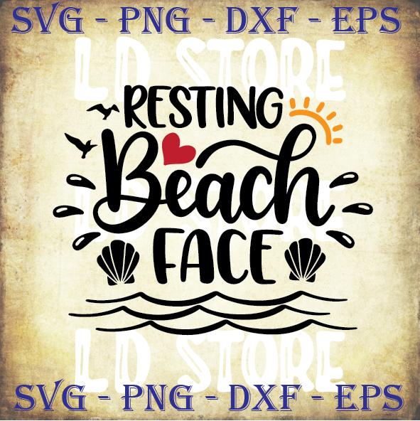 Resting Beach Face Svg Mermaid Svg Summer By Ldstoresvg On Zibbet