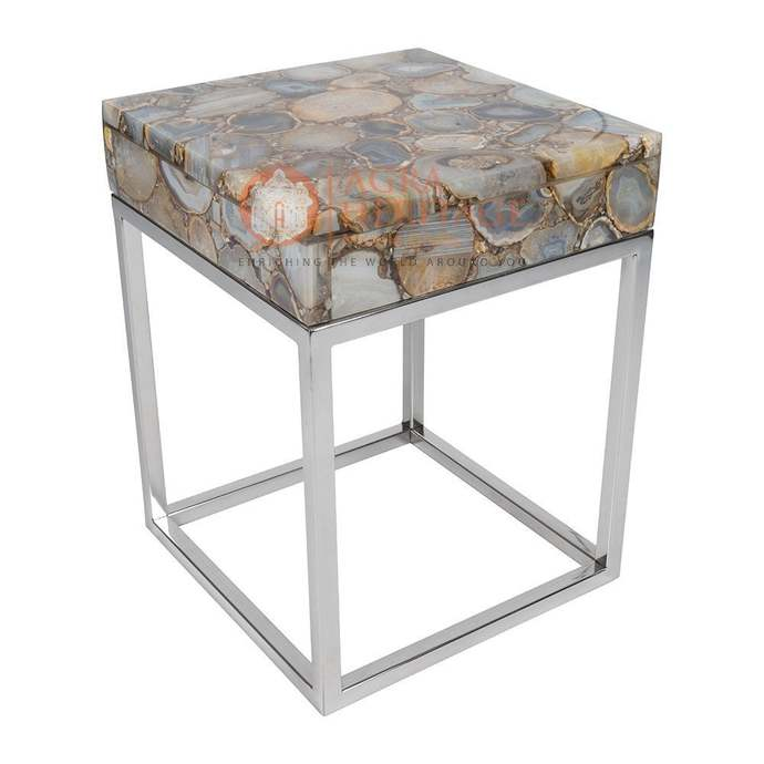 Buy Natural Agate Stone Round Coffee Table Top Handmade Kitchen Outdoor Interior