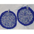 Potholders - Blue and Pastel - Set of 2