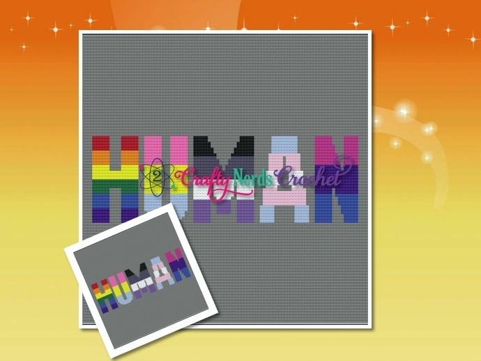 Human Pride LGBTQIA Pattern Graph with MiniC2C Written