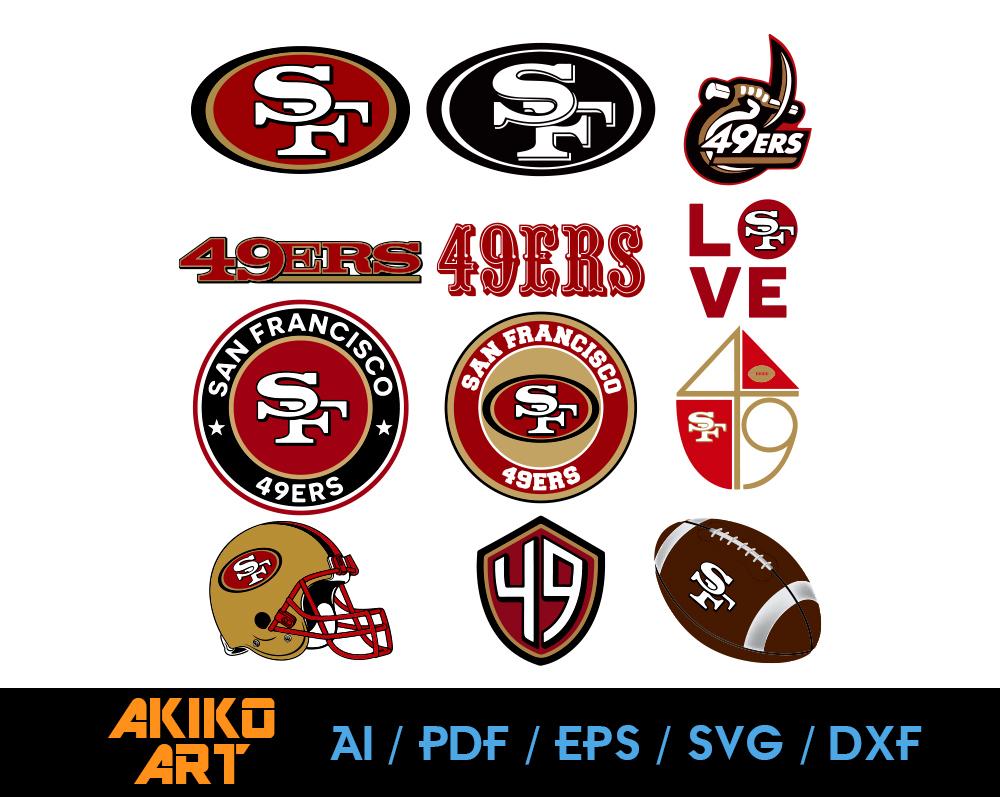 San Francisco 49ers Vector Football Dxf Eps By Akiko Art On Zibbet
