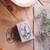 mne x London Gifties original design wooden stamp - Candlelight - 4 x 6cm