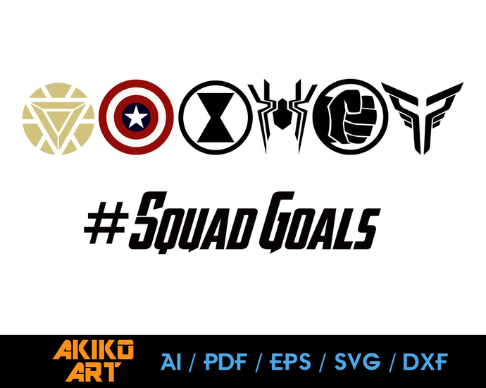 Avengers Vector Avengers Squad Goals Dxf Eps By Akiko Art On