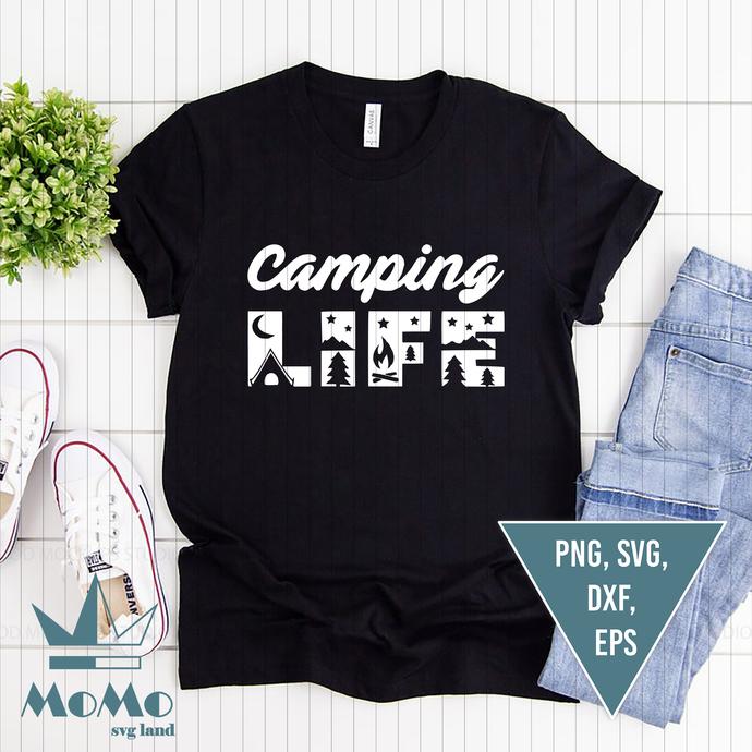 Camping life Svg, Camping Svg, Travel Svg, Camping quote Svg, Camper Svg,