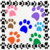 Color Paws 2-Digital Clipart-Art Clip-Gift Cards-Banner-Gift Tag-Jewelry-T