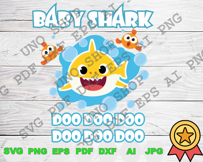 Baby Shark Doodoodoo svg,Baby shark family instant download,Baby shark family