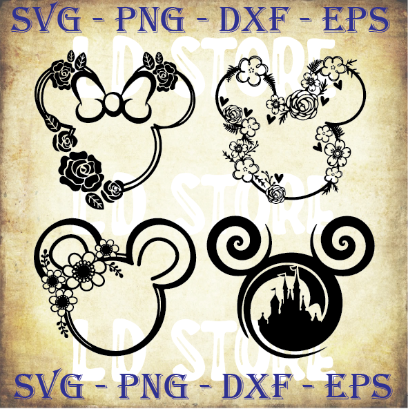 Mickey Mouse Head SVG, Disney SVG, Mickey SVG, Mickey Mouse ears Svg, Clipart,