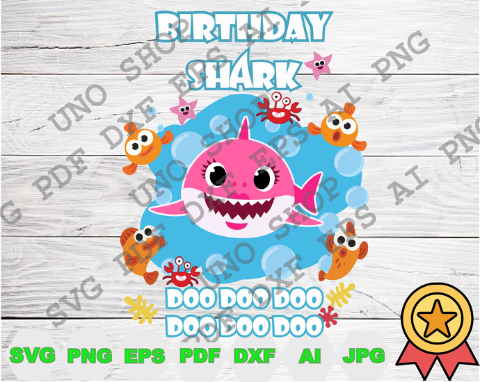 Mommy Birthday Shark Doo Doo Doo svg,Baby shark instant download,Baby shark