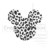 Mickey Mouse cheetah leopard disney Embroidery Machine Designs Love Heart