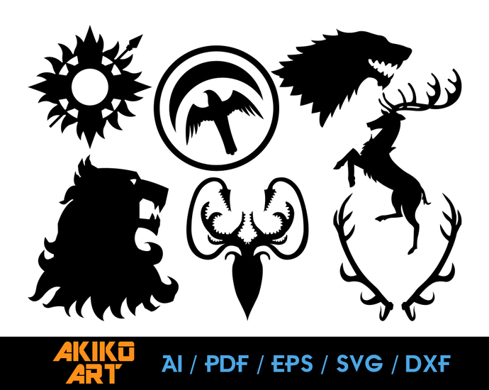 Game of Thrones vector | Thrones dxf | eps | png | cricut cut file | separated