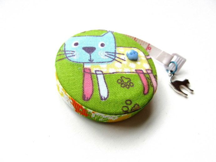 Tape Measure Crazy Colored Cats Small Retractable Tape Measure
