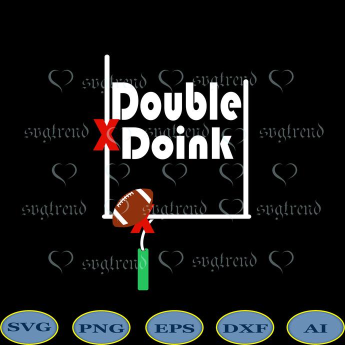 Double Doink Svg, NFL Football Svg, Doink Svg, Double Doink vector, Double Doink