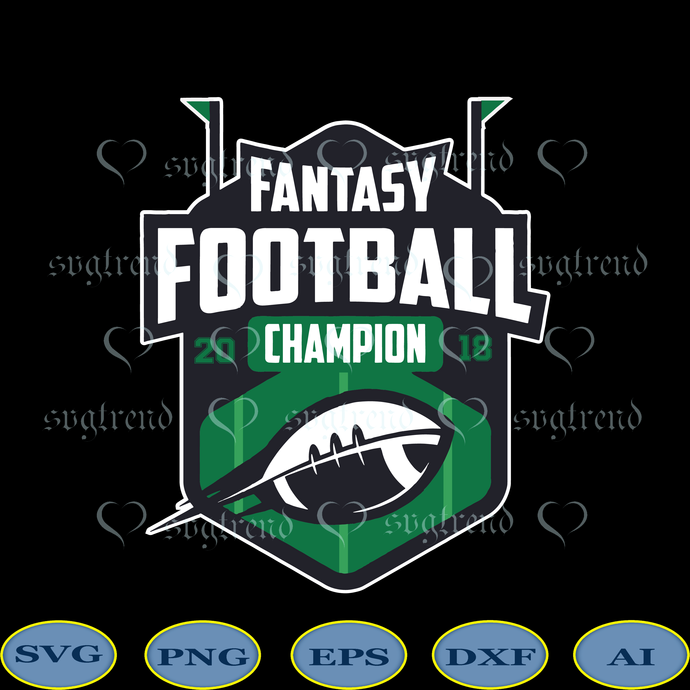 Fantasy Football Champion Svg, Fantasy Svg, Fantasy vector, NFL Football Svg,