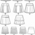 Sewing Pattern for Misses Mini Skirts, Simplicity Pattern 4963, New Pattern