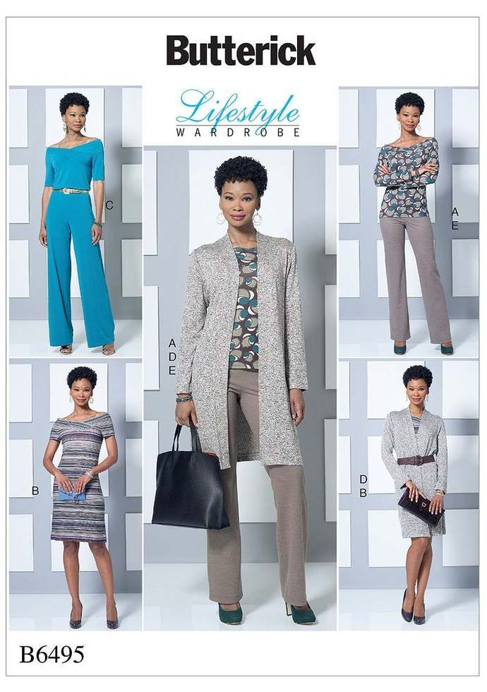 Sewing Pattern for Womens Top, Dress, Jumpsuit, Jacket and Pants, Butterick