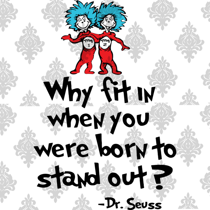 Why fit when you were born to in standout, dr seuss svg, dr seuss gift, cat in