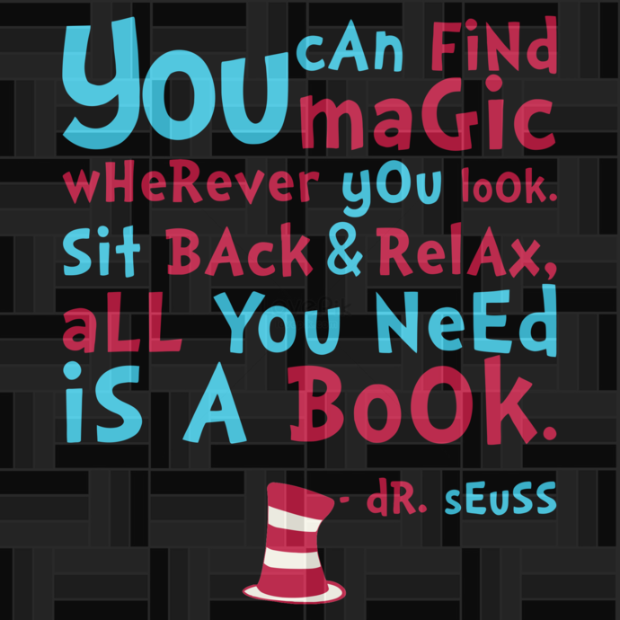 You can find magic svg,Dr Seuss hat, Thing 1 thing 2, Cat in the hat, thing 1