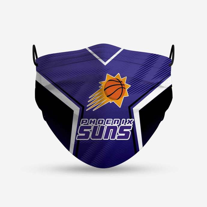 Phoenix Suns face mask, football, face protection, four layers, pleated,