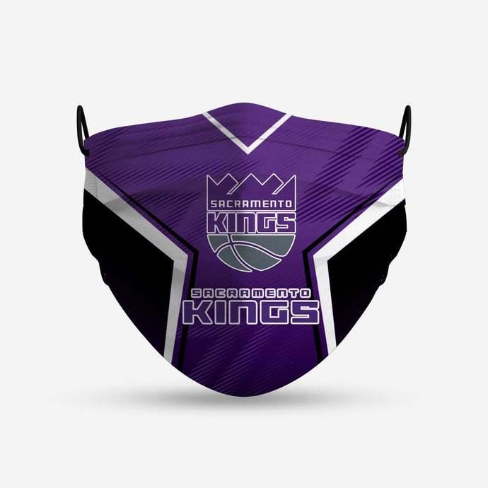 Sacramento Kings face mask, football, face protection, four layers, pleated,