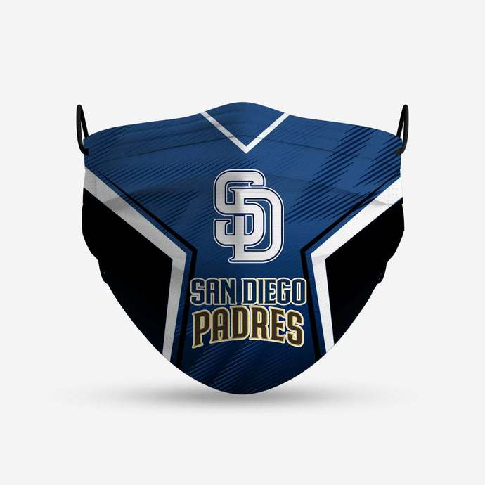 San Diego Padres face mask, football, face protection, four layers, pleated,