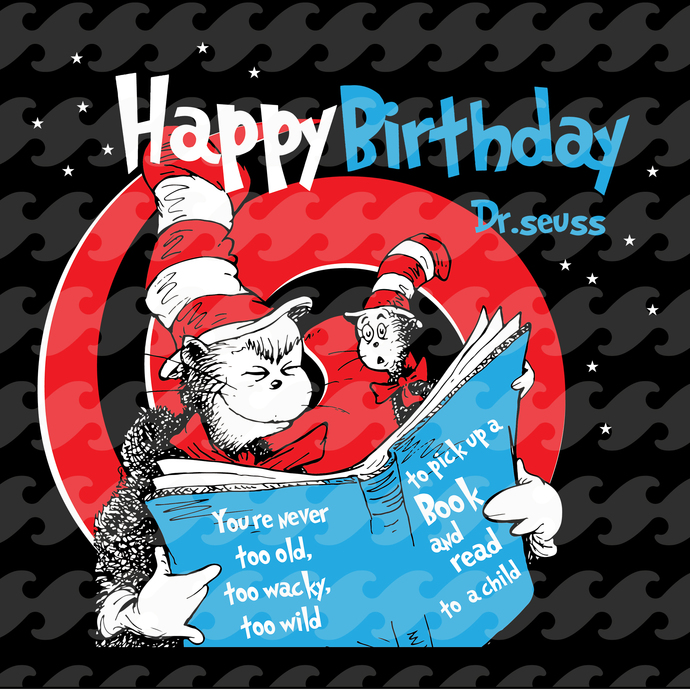 Happy birthday Dr seuss svg, Cat in the hat, thing 1 thing 2 baby, Dr seuss svg,