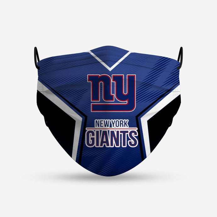 New York Giants face mask, football, face protection, four layers, pleated,