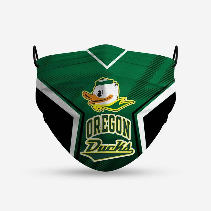 Oregon Ducks face mask, football, face protection, four layers, pleated,