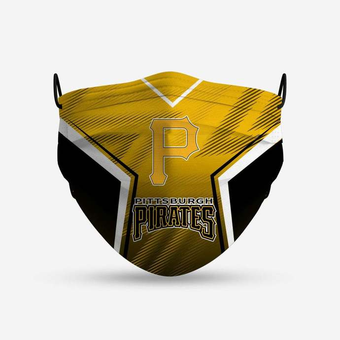 Pittsburgh Pirates face mask, football, face protection, four layers, pleated,