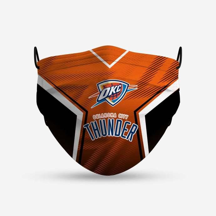 Oklahoma City Thunder face mask, football, face protection, four layers,