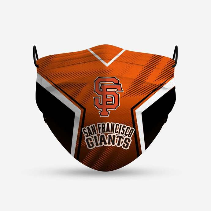 San Francisco Giants face mask, football, face protection, four layers, pleated,