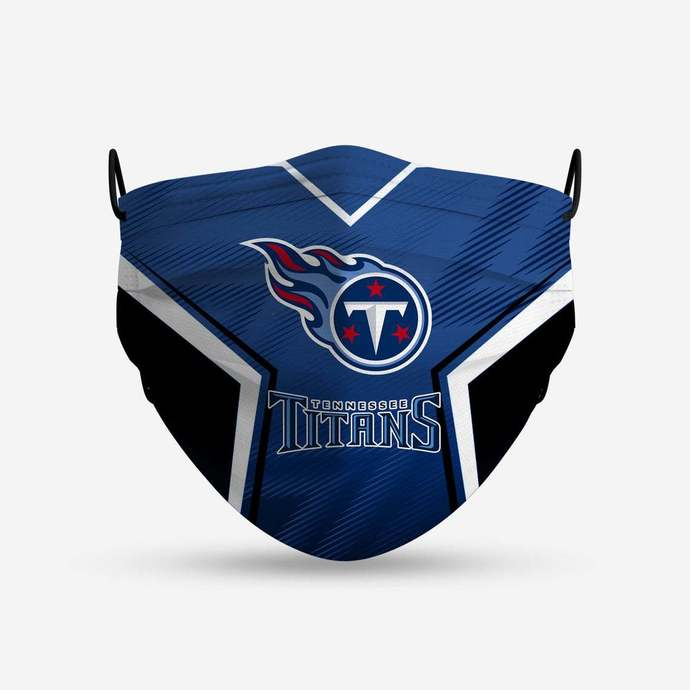Tennessee Titans face mask, football, face protection, four layers, pleated,