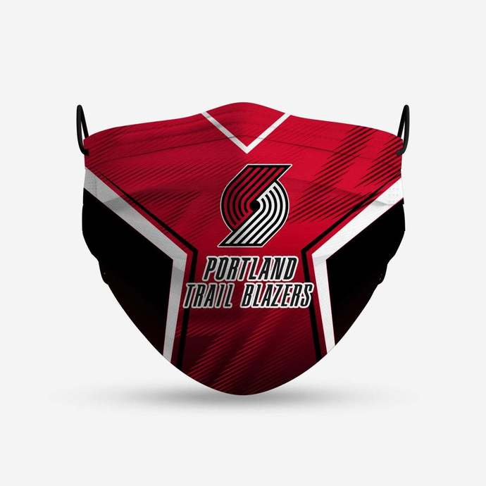 Portland Trail Blazers face mask, football, face protection, four layers,