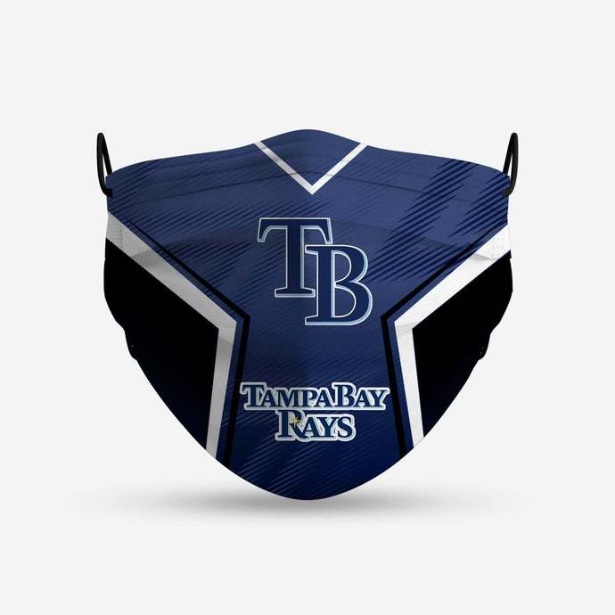 Tampa Bay Rays face mask, football, face protection, four layers, pleated,