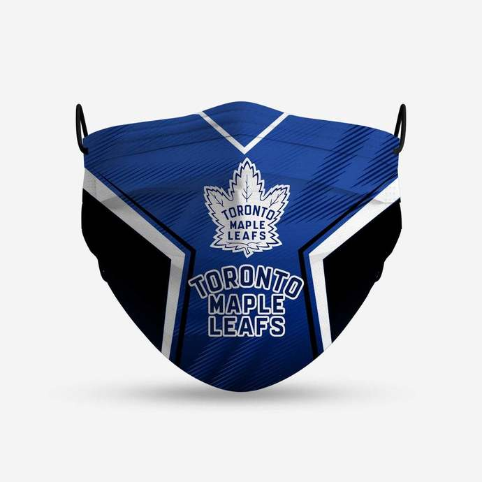 Toronto Maple Leafs face mask, football, face protection, four layers, pleated,