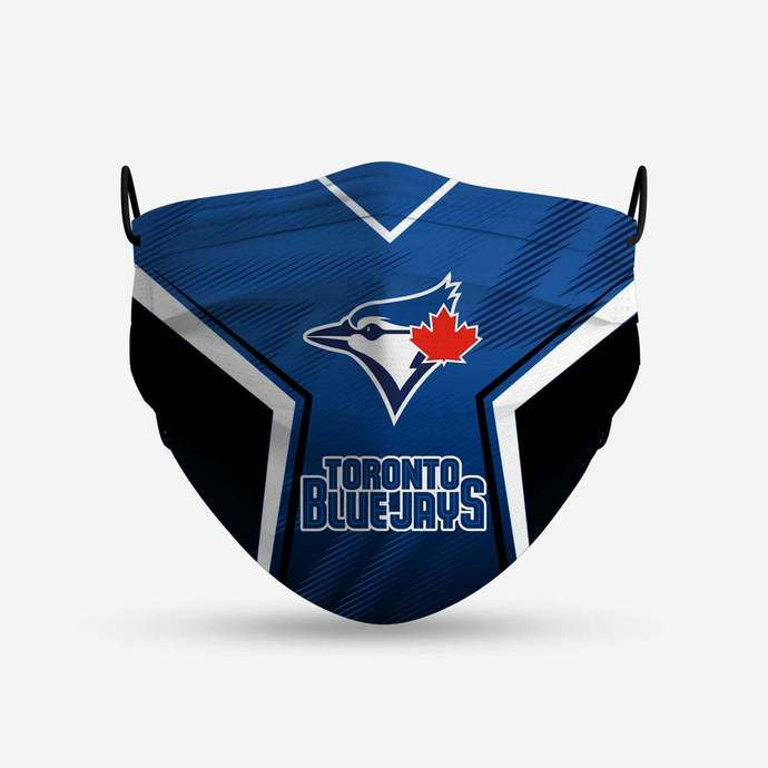 Toronto Blue Jays face mask, football, face protection, four layers, pleated,