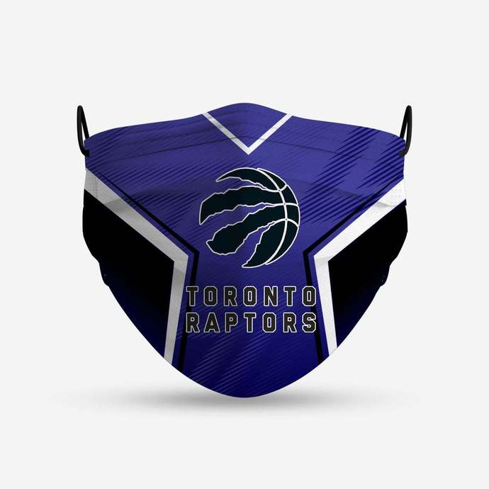 Toronto Raptors face mask, football, face protection, four layers, pleated,