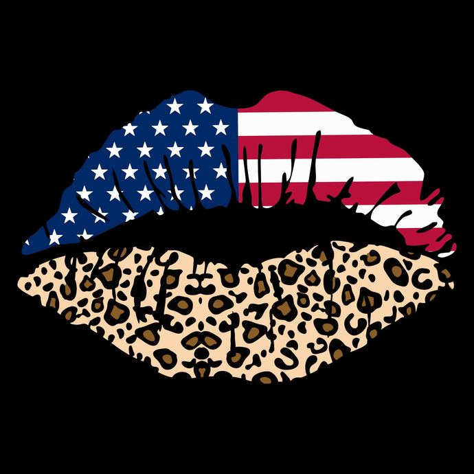 4th of July svg, USA lips Kiss svg, Fourth of July SVG, lips kiss 4th of July