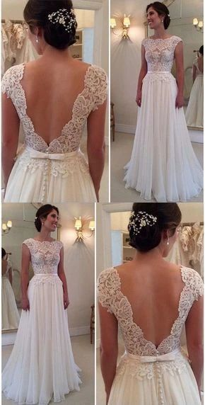 robe de mariage lace applique wedding dresses 2020 beaded elegant cap sleeve