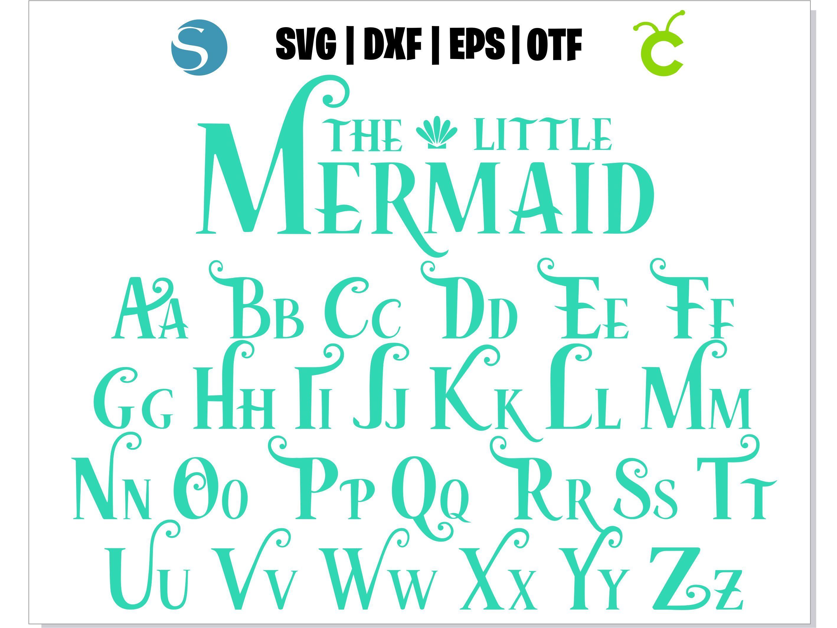 Mermaid Font Svg Mermaid Font Otf Mermaid By Hotfont On Zibbet