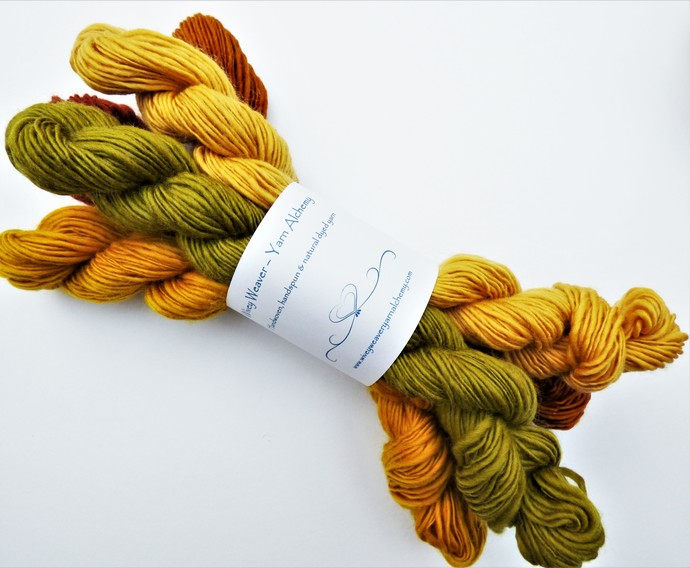 Handspun Yarn – 100% Merino Wool – 125 grams – Sport Weight – Autumn Collection