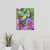 "16"" x 20"" The Party Bird Original Whimsical Folk Art Painting"