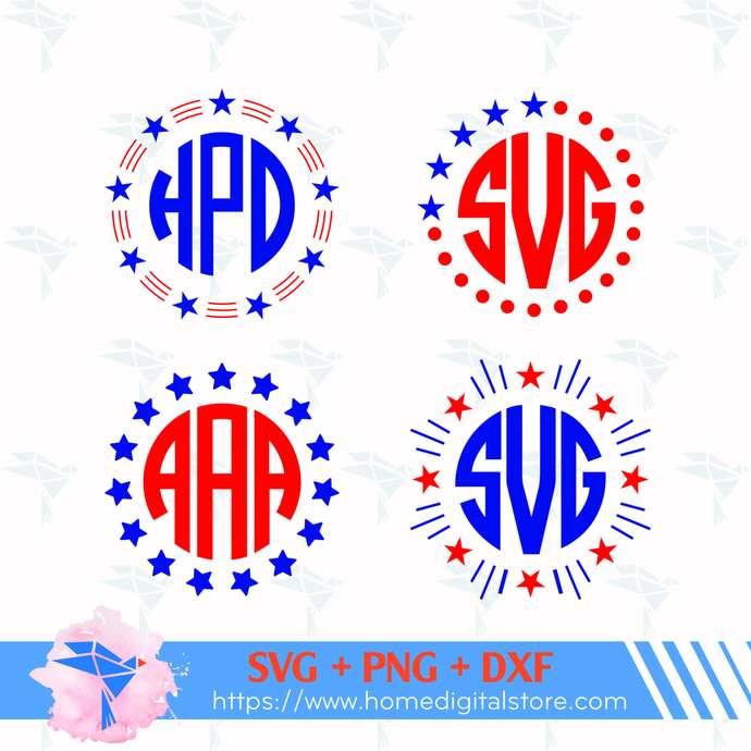 Star Monogram Svg Png Dxf Instant By Homedigitalstore On Zibbet