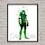 Green Arrow Comics DC, superhero, Green Arrow print poster, home decor, nursery