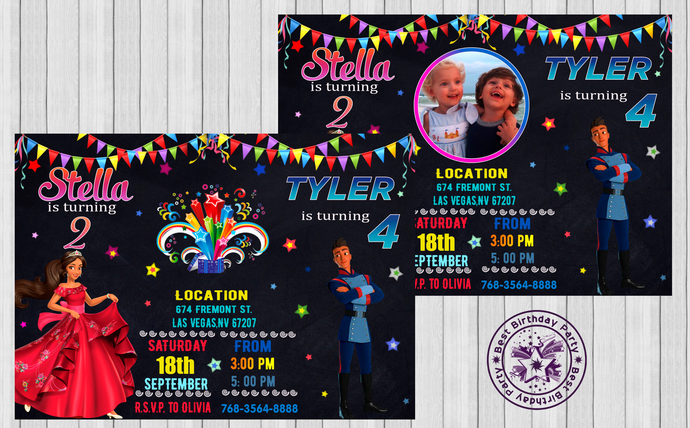 Sibling Birthday Invitations Brother Sister - Dual Birthday Party Invitations -