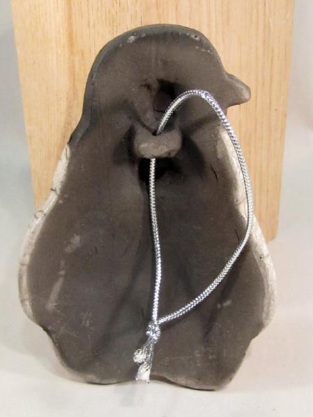 Raku Pottery Baby Emperor Penguin Clay Ornament