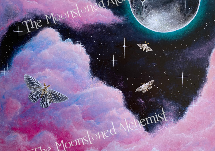 """12""""x 18""""  Print """"Thin Air, don't care"""" - To The Moon & Back"""