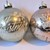Vintage mercury glass Christmas ornaments set 4
